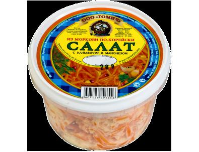 Морковь с кальмаром 200 г
